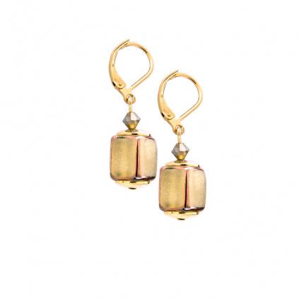Skvostné náušnice Sun Shine z perel Lampglas