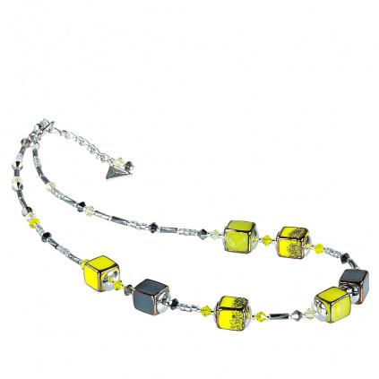 Náhrdelník Bright Day z perel Lampglas