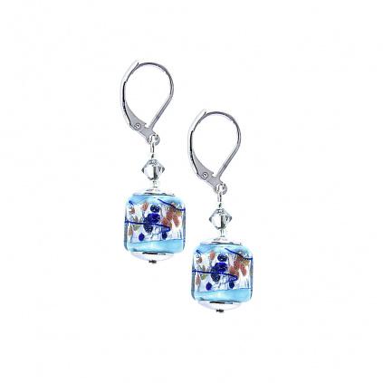 Náušnice Crystal Spring s ryzím stříbrem v perlách Lampglas
