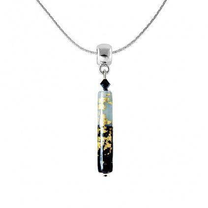 Náhrdelník Perfect Day s 24karátovým zlatem v perle Lampglas