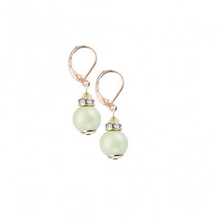 Náušnice Soft Cube z perel Lampglas