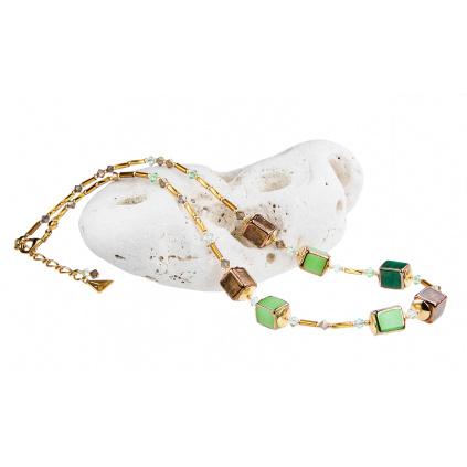 Náhrdelník Emerald Shadow z perel Lampglas