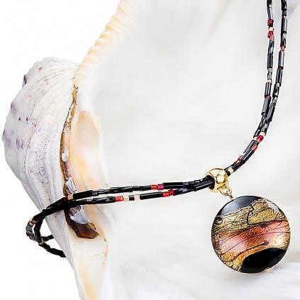 Náhrdelník Mystery s perlou Lampglas