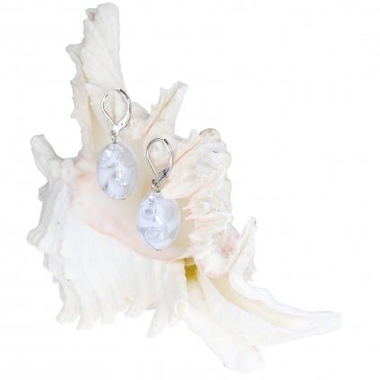 345 nausnice z lampovych perel white lace