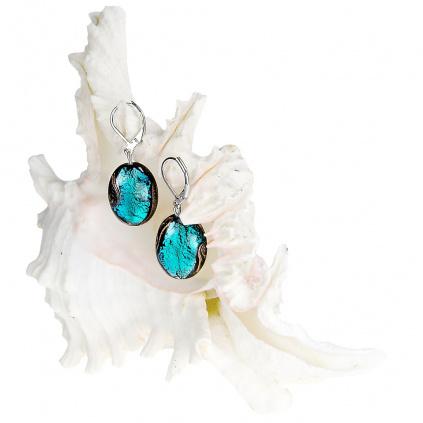 Dámské náušnice Deep Sea z perel Lampglas s ryzím stříbrem