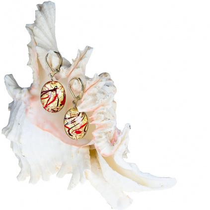 Náušnice My Roots z perel Lampglas s 24kt zlatem