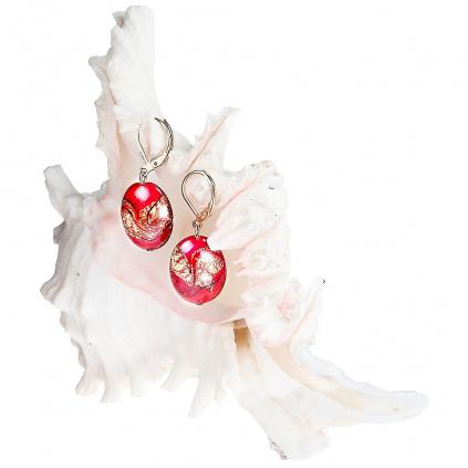 Náušnice Coraline Fantasy s 24kt zlatem v perlách Lampglas