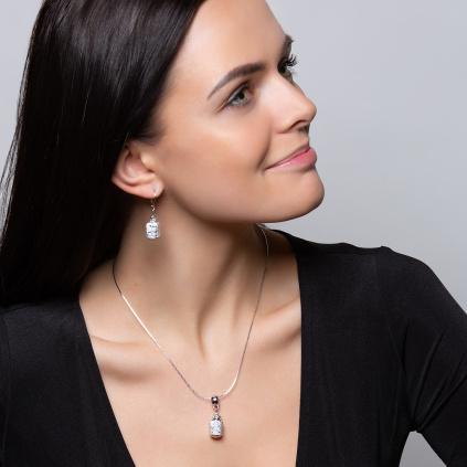 Dámský náhrdelník Snow white z lampových perel Lampglas