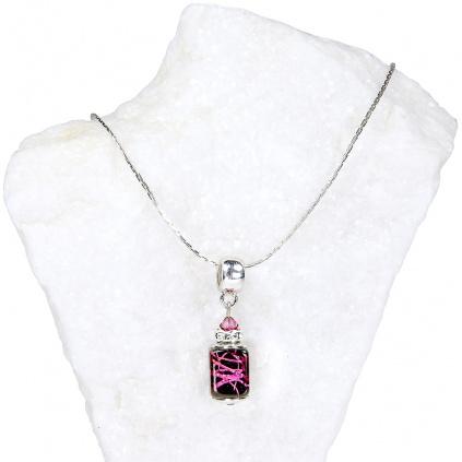 492 damsky nahrdelnik royal passion z lampovych perel lampglas