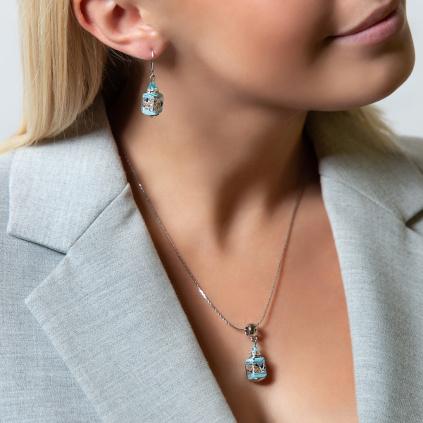 Dámský náhrdelník Velvet Sky z lampových perel Lampglas