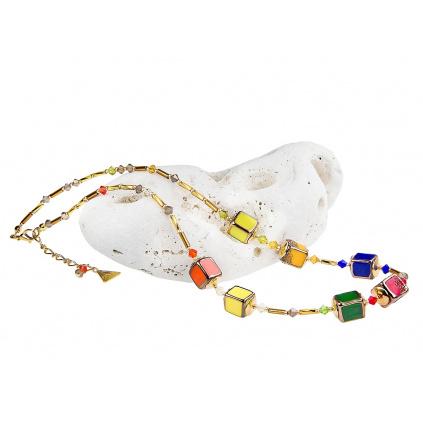 Náhrdelník Summer Meadov z perel Lampglas