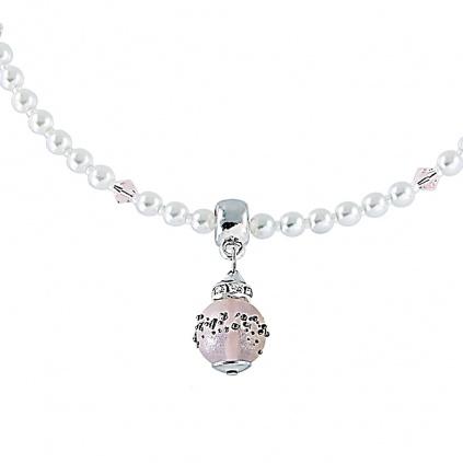 Zářivý náhrdelník Ester s perlou Lampglas