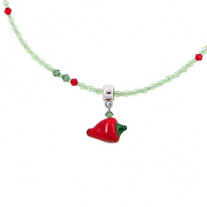 Náhrdelník Hot Pepper s perlou Lampglas