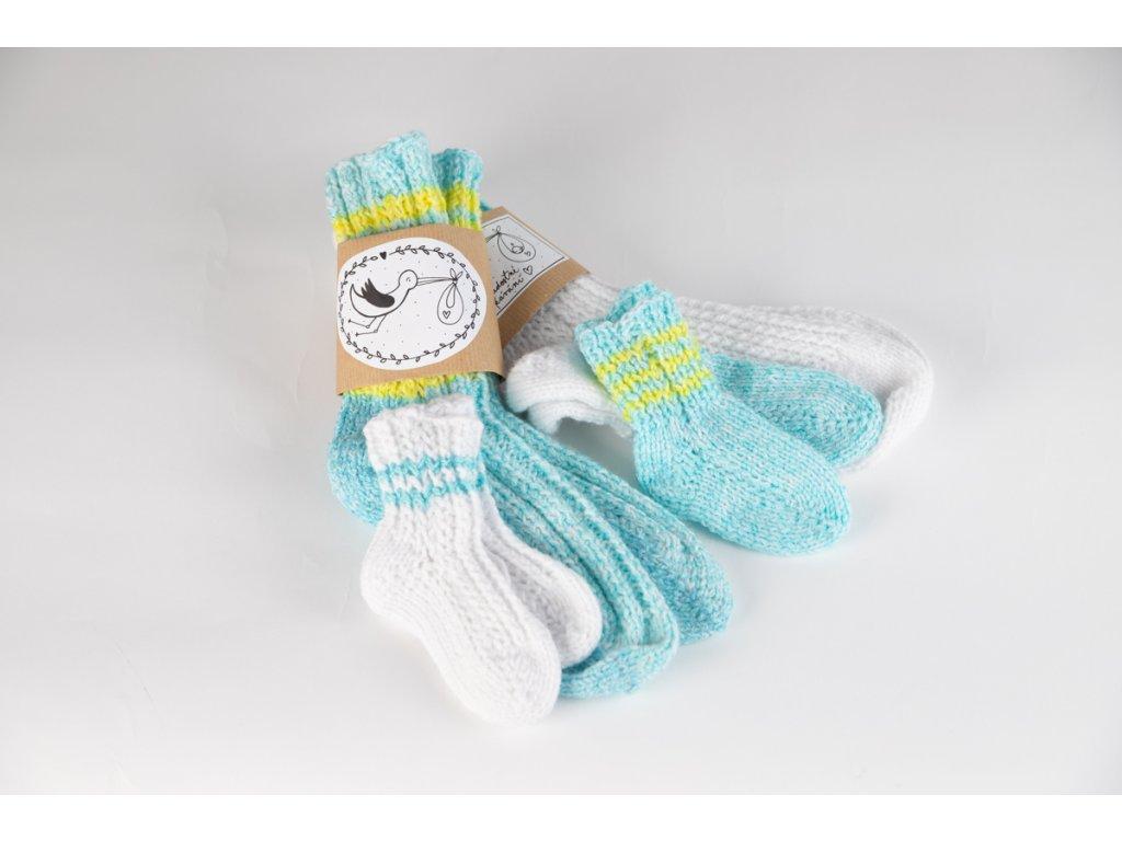 Ponožky - sada pro maminku a miminko