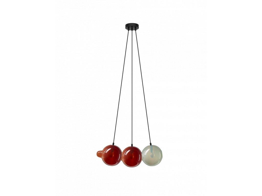 pendulum pendant 3 red red white