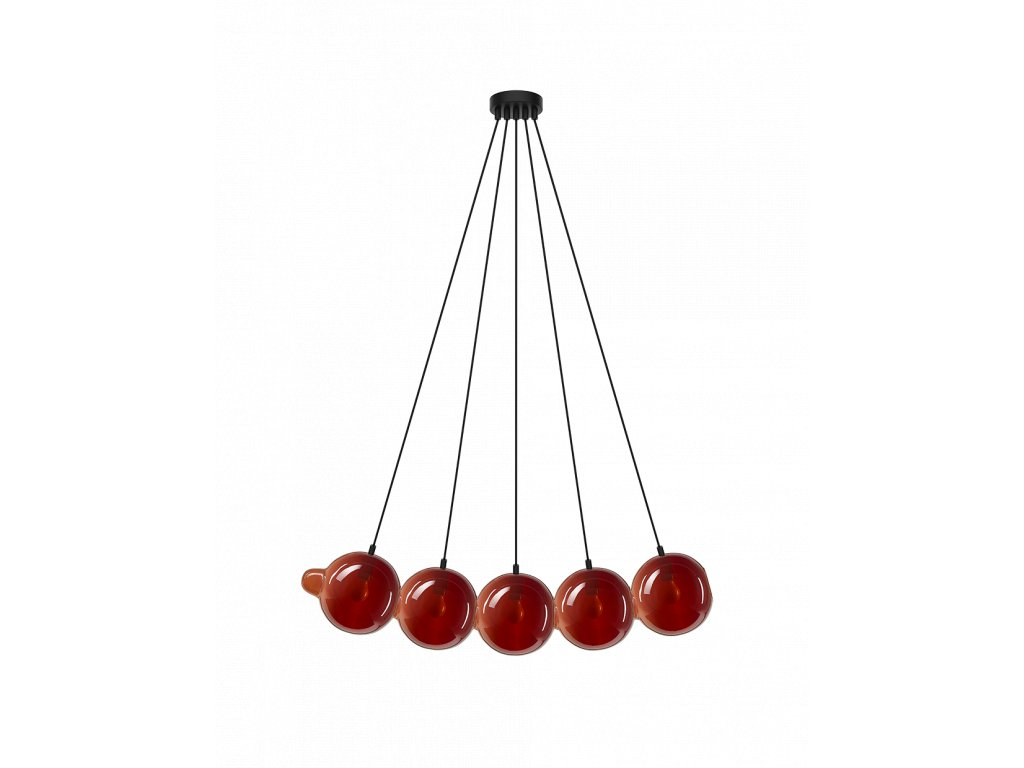 pendulum pendant 5 red