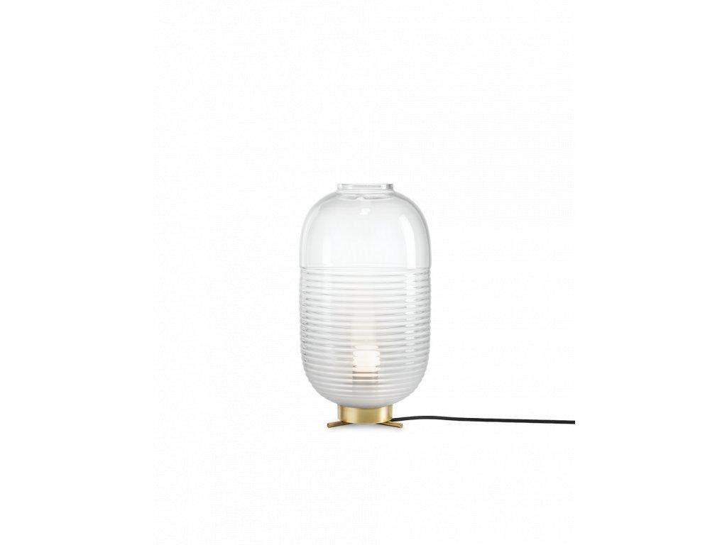 lantern table white light patina brass