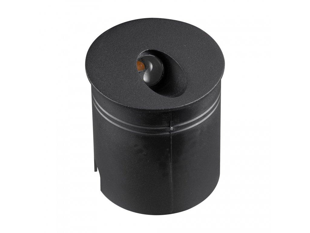 aspen outdoor 3 watt led round angle wall light in sand black finish ip65 m7022 p42587 37618 zoom
