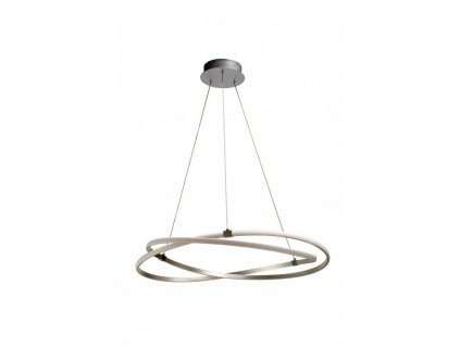 mantra infinity pendant lamp led 60w silver