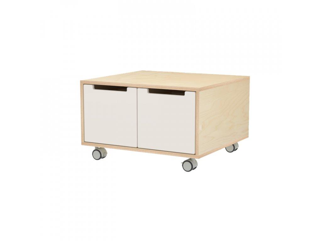 Herní stolek se 4 zásuvkami s kolečky