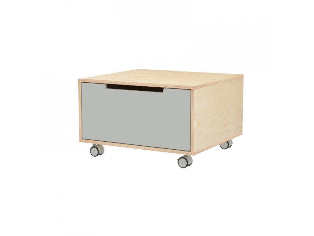 Herní stolek s jednou zásuvkou s kolečky
