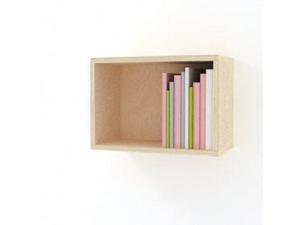 Úzký nástěnný box na plyšáky a knížky