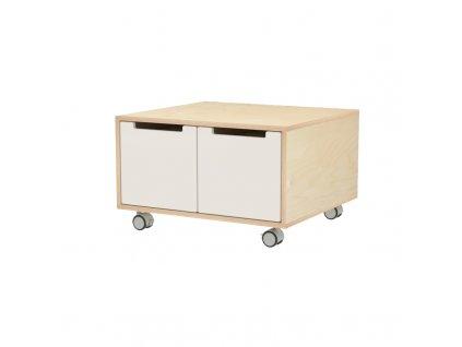 Herní stolek se dvěmi zásuvkami a kolečky