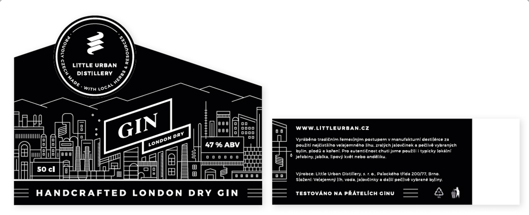 Little Urban Distillery - label