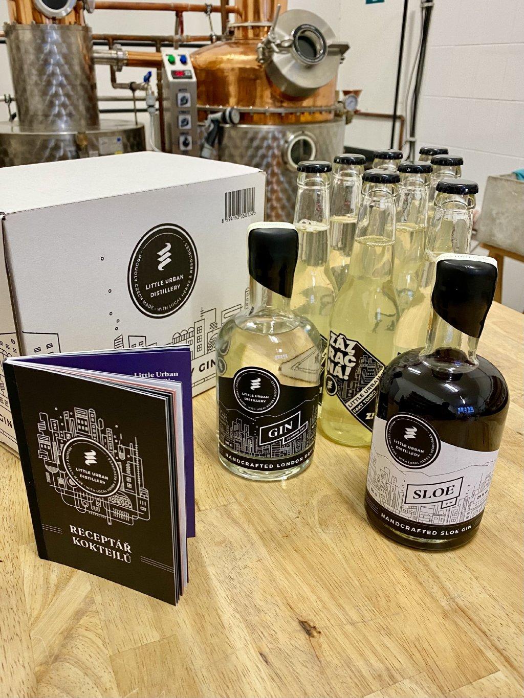 XXL Box Little Urban London Dry 50cl 43% a Sloe Gin 50cl 29% a 8 Fakt toniků a Dárek