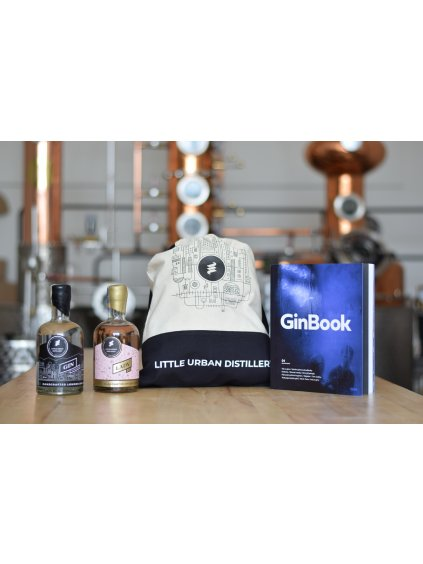 Sada GinBook a Little Urban London Dry 50cl 43% a Lady Gin 50cl 43%