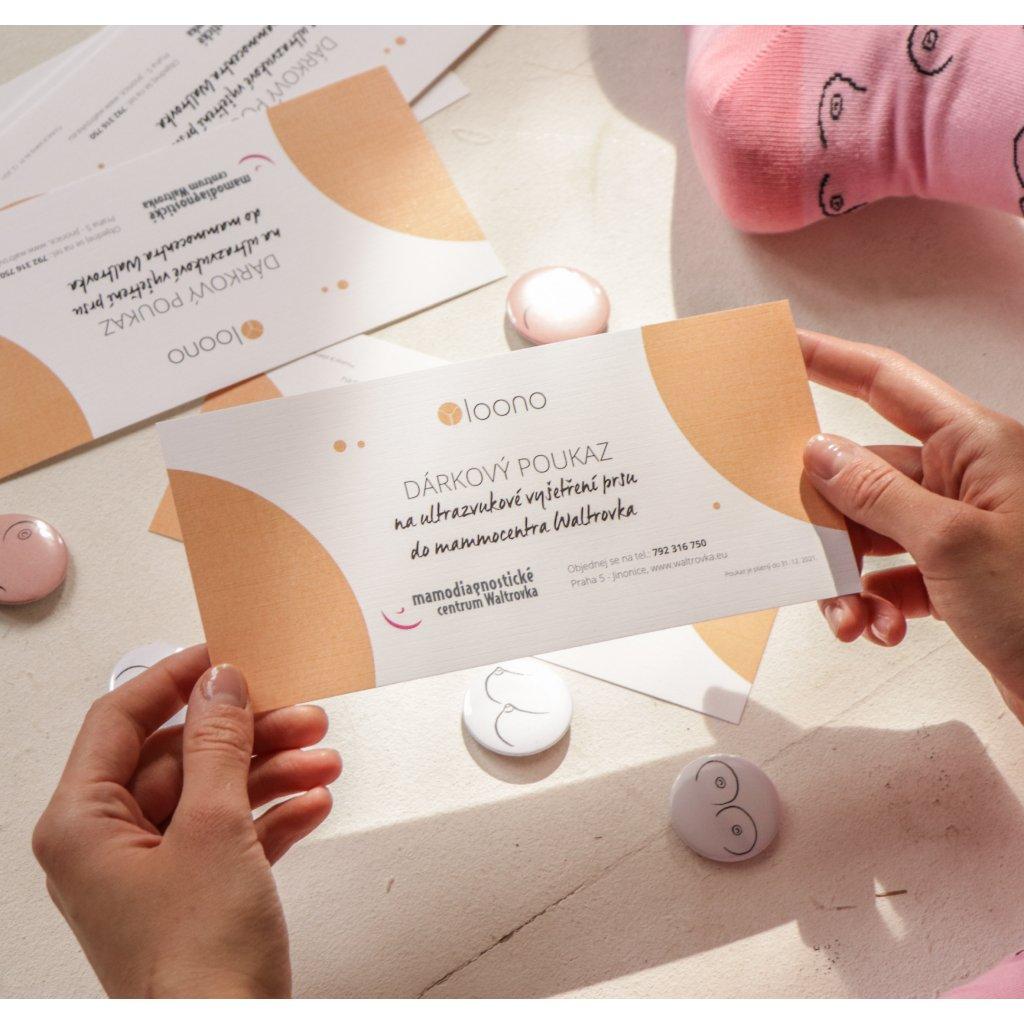 Poukaz na ultrazvukové vyšetření prsu (Praha)
