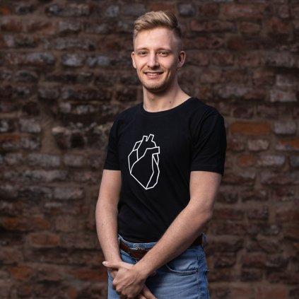 Tričko se srdcem černé