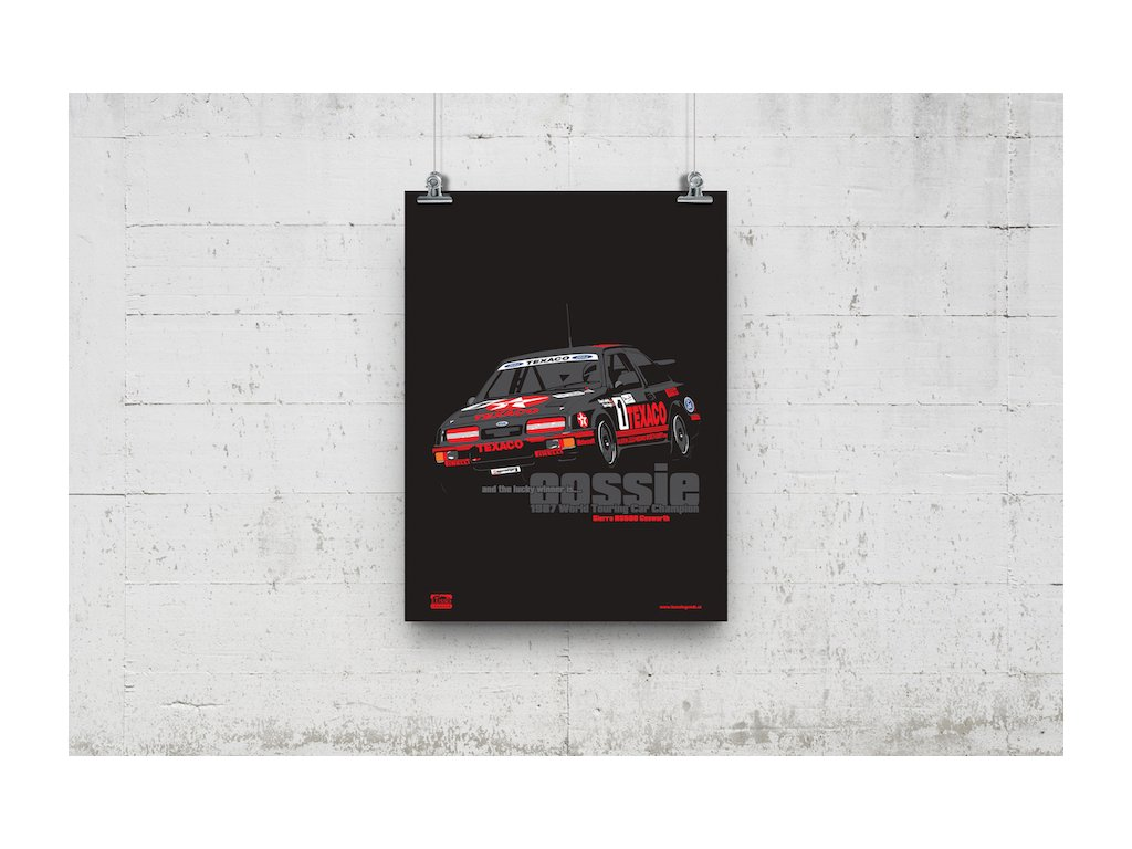 Poster Lusso Legends Ford Sierra RS50 Cosworth