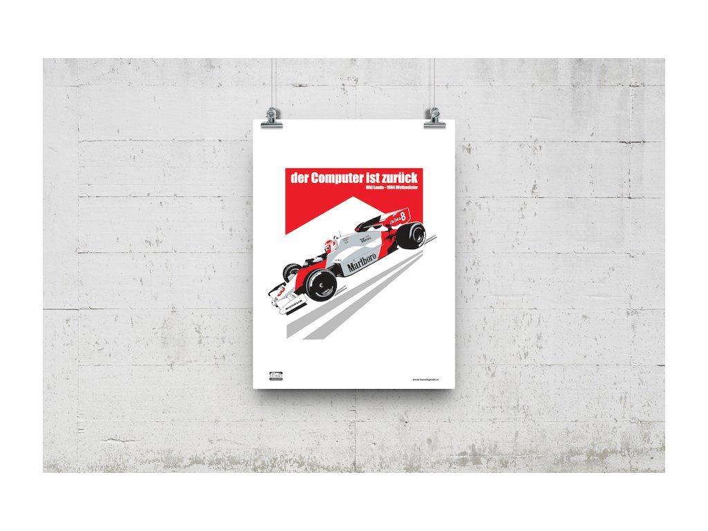 Poster Lusso Legends Niki Lauda 1984