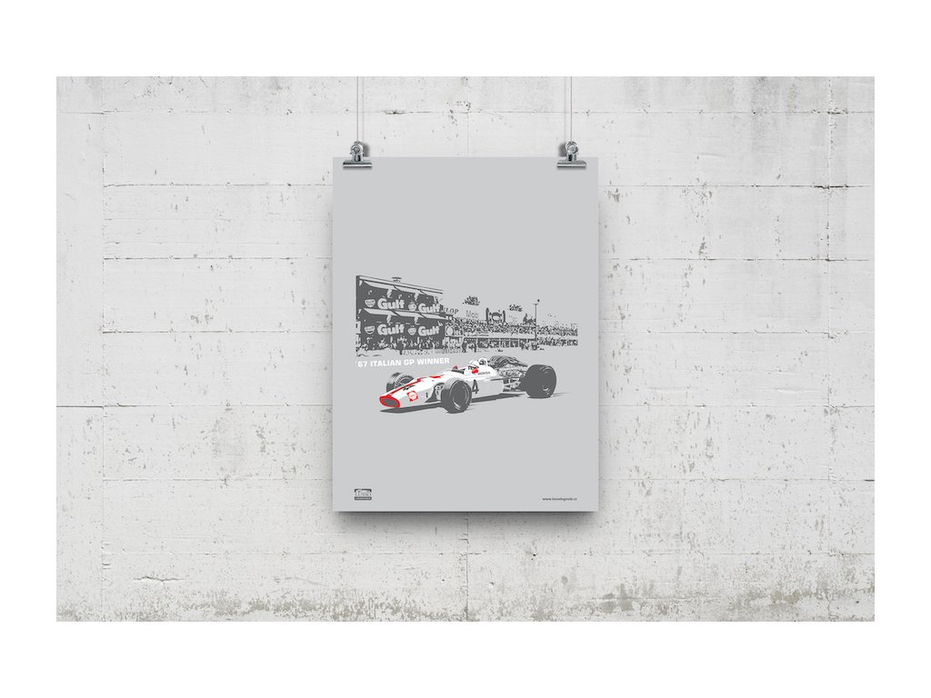 Poster Lusso Legends Monza 1967 Winner Surtees Honda