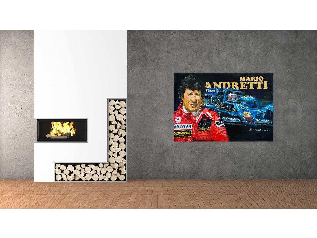 Obraz.Lusso Legends Mario Andretti F1 Lotus produkt 1
