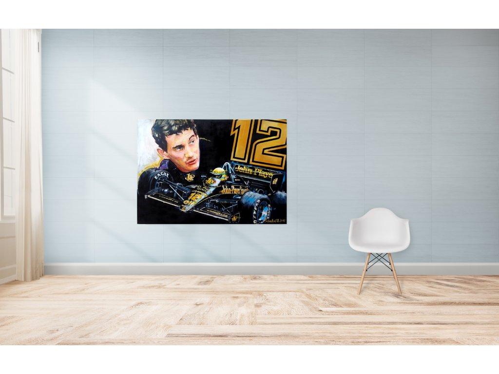 Obraz Lusso Legends Ayrton Senna Lotus 12