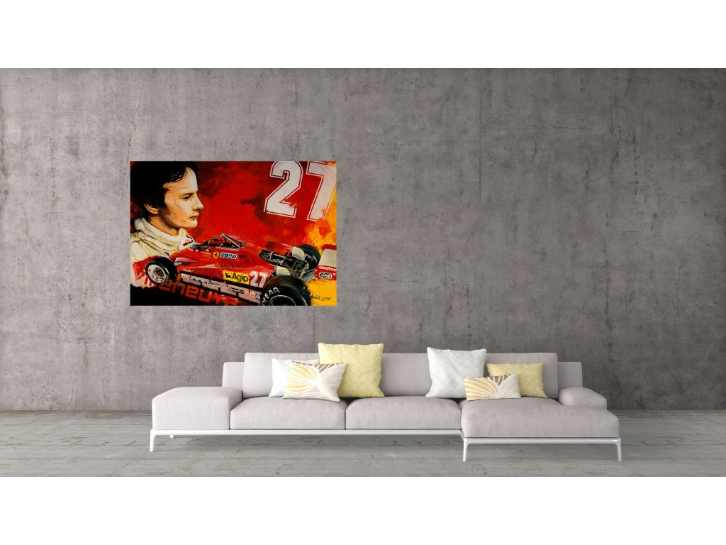 Obraz Lusso Legends Gilles Villeneuve Ferrari produkt 1