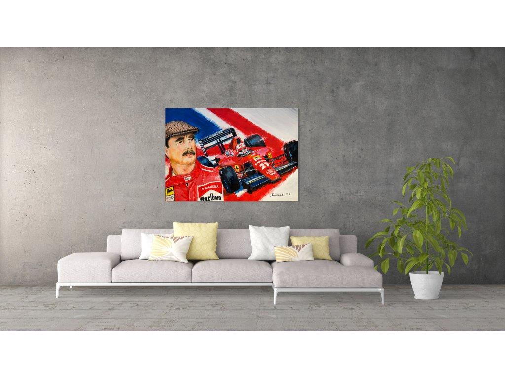 Obraz Lusso Legends Nigel Mansell Ferrari produkt 1