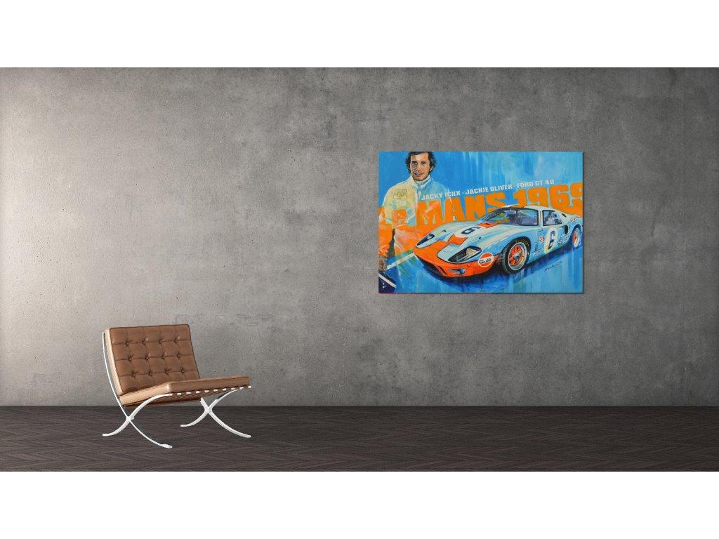 Obraz Lusso Legends Jacky Ickx Ford GT40 Le Mans 1969 produkt 1