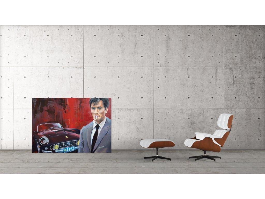 Obraz Lusso Legends Alain Delon Ferrari produkt 1
