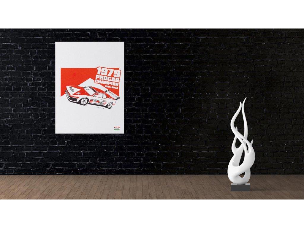 Hlinikovy obraz Lusso Legends Niki Lauda BMW M1 ProCar 2