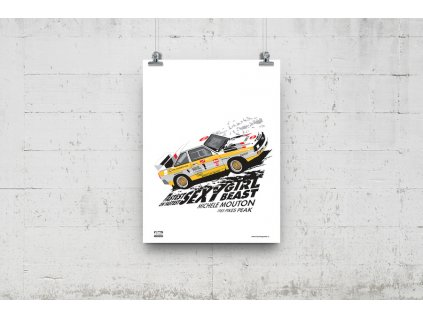 Poster Lusso Legends Michele Mouton Pikes Peak Audi 1985