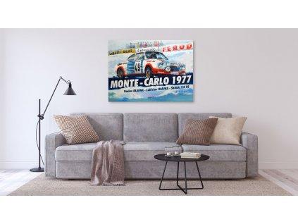 Hlinikovy obraz Lusso Legends Skoda 130 RS Rally Monte Carlo 1977