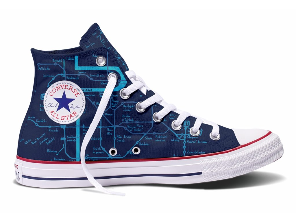 CONVERSE limited PRAHA edition by MAAPPI - modré