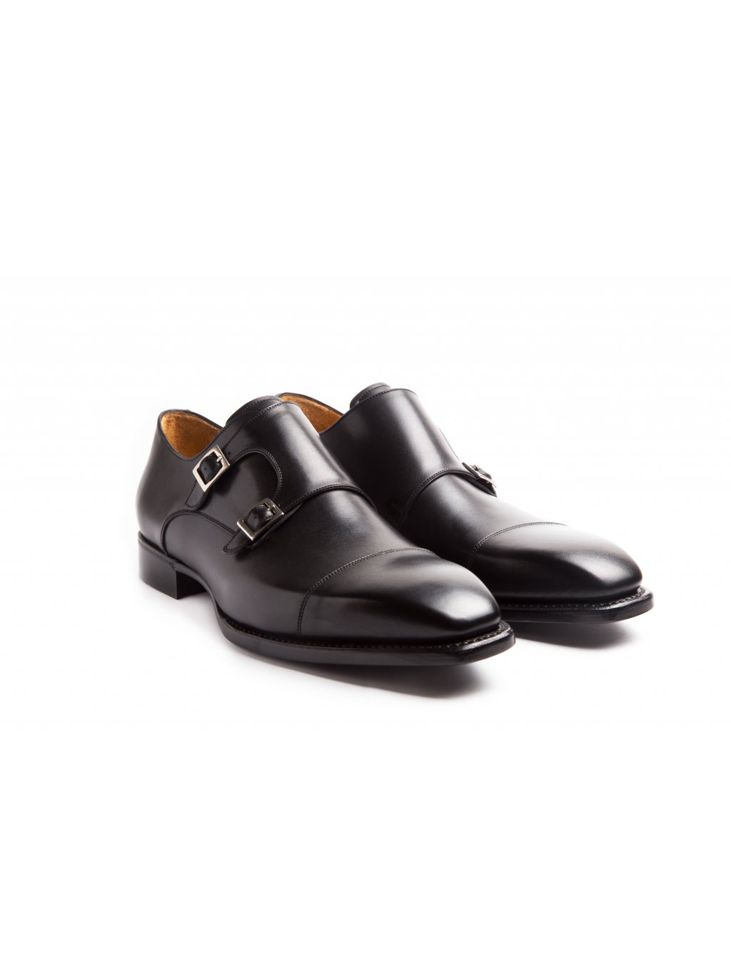 Boty double monks black