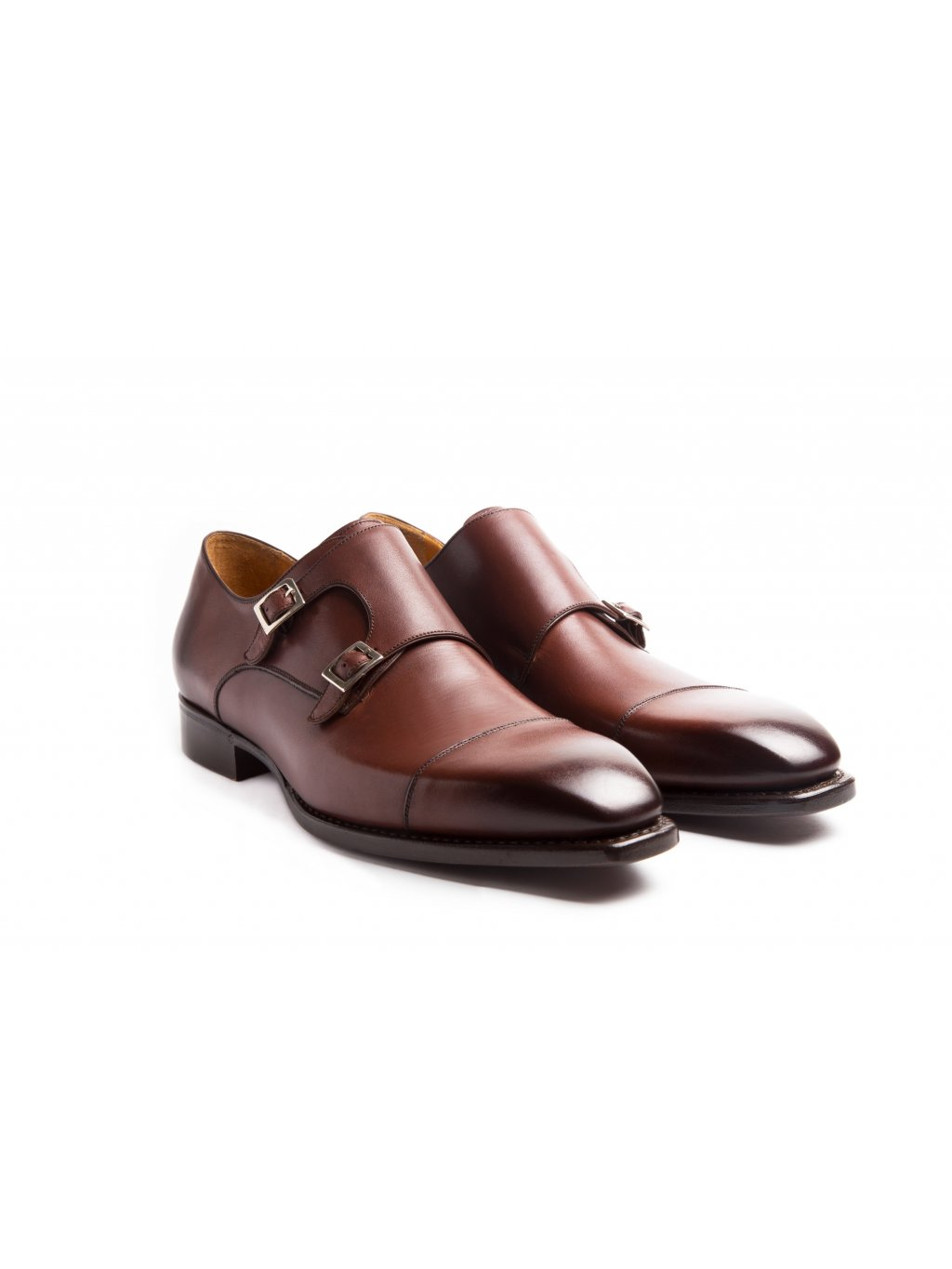 Boty double monks brown