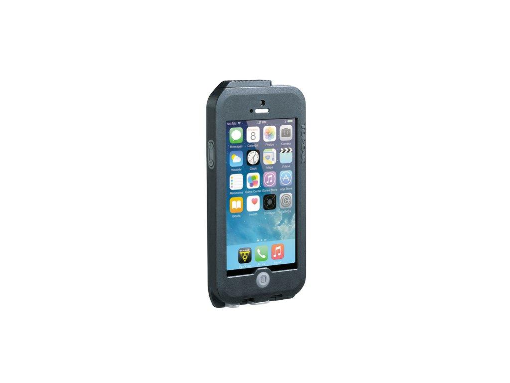 Puzdro Topeak WEATHERPROOF RIDE CASE (iPhone 5/5s/SE) čierno-šedé (s držiakom)