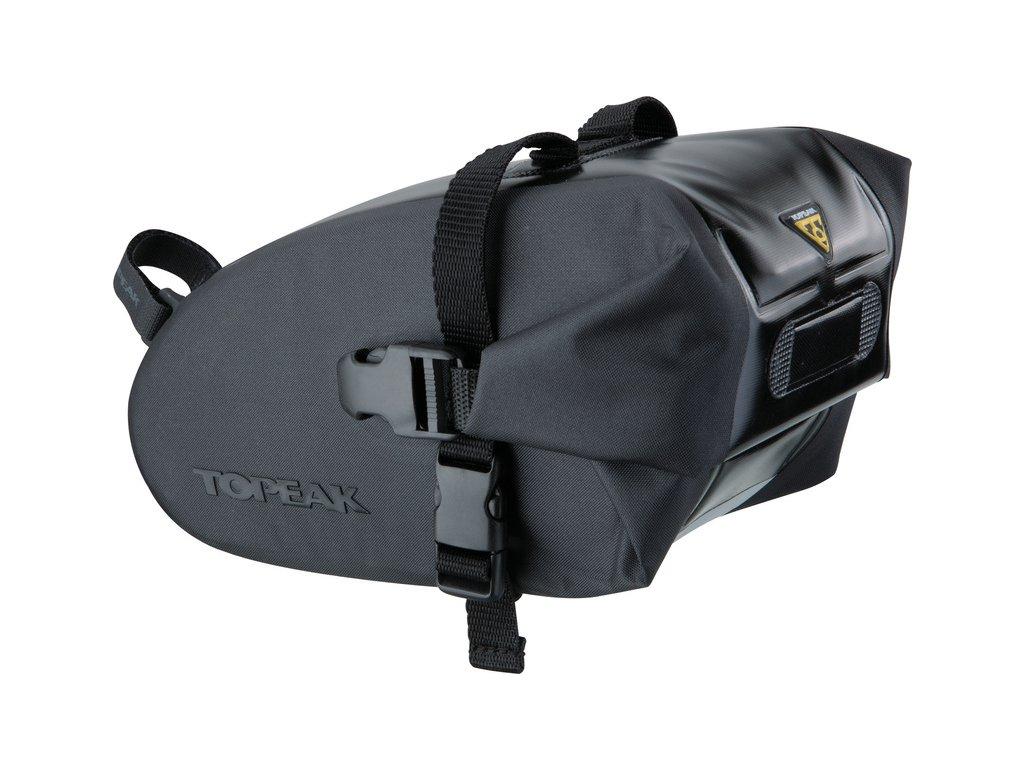 Taška podsedlová Topeak WEDGE DRY BAG Large čierna, popruh