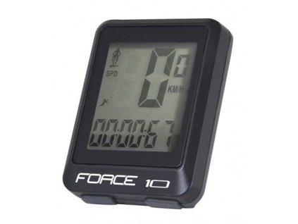 FORCE cyklocomputer 10 funkcií, drôtový, čierny